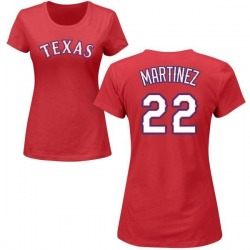 Women's Nick Martinez Texas Rangers Roster Name & Number T-Shirt - Red
