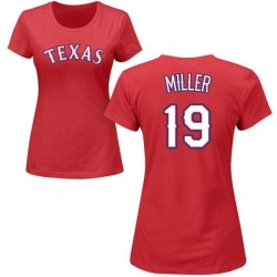 Women's Shelby Miller Texas Rangers Roster Name & Number T-Shirt - Red